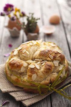 Rustic sweet easter bread.