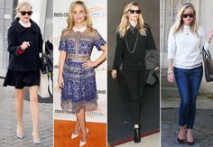 Reese Witherspoon Shows Her Collars in Four Chic Ensembles  #InStyle