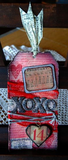 Life is a Hoot Valentine Love Cards, Valentine Crafts, Valentines Day, Wedding Mini Album, Stampers Anonymous, Tag Art, Tim Holtz, Altered Art, Mini Albums