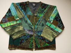 Quilted jacket Art to wear Fiber Art Womens jacket art by jill2day
