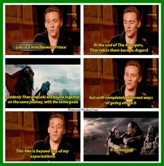 Tom Hiddleston On Loki and Thor working together in Thor: The Dark World