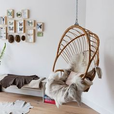 love a hanging chair in Our one day bedroom, or the reading games craft space