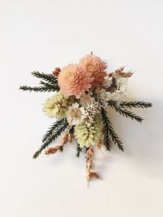 Sweet Spring Boutonnière // Dried Flowers // Flower by Eucca