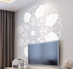 Beautiful floral mandala wall sticker to decorate your home!