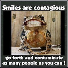 Smiles are contagious!! #smile #frogs