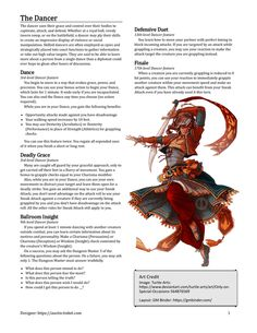 Dungeons And Dragons Rules, Dungeons And Dragons Classes, Dungeons And Dragons Homebrew, Dnd Classes, Elemental Magic, Dnd 5e Homebrew, The Dancer, Anime Weapons, Dnd Characters