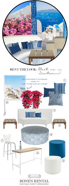 Rent The Look: Meet me in Santorini — Brainstorming Lounge. Ronen Rental's Blog