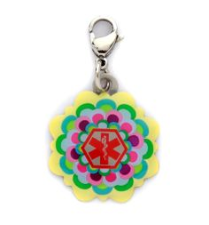 Multi Flower Medical ID Charm