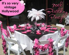 PiNk Will Be A Major Color Theme The Party Ville 30th Birthday Inspiration