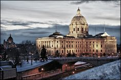 Minnesota State Capitol (St. Paul, MN) This was our view when my brother was in the hospital for two months after his accident last year.