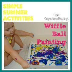 Wiffle Ball Painting