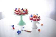 fresh flower cupcakes - coco cake land