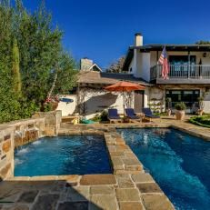 Front Yard With Pool and Spa