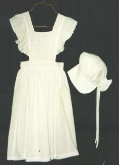 pinafore and bonnet