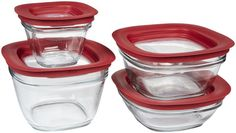 Rubbermaid 11 12 Cup Glass Food Storage Container w Easy Find Lid