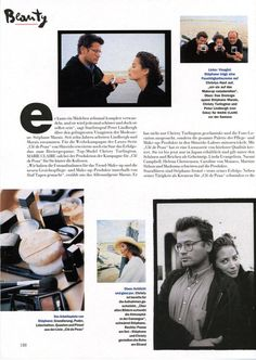 Christy Turlington by Peter Lindbergh for German Marie Claire November 1994 | Behind the Scenes with Stephane Marais including Shiseido campaign images.