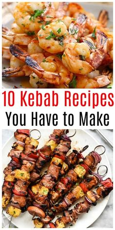 visit www.livingrichwit… to get the 10 Awesome Kabob Recipes Including chicken… visit www.livingrichwit… to get the 10 Awesome Kabob Recipes Including chicken, salmon, beef, shrimp and much Easy Bbq Recipes, Skewer Recipes, Summer Grilling Recipes, Easy Salmon Recipes, Beef Recipes, Easy Meals, Cooking Recipes, Chicken Kabob Recipes, Bbq Recipes Shrimp