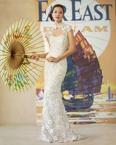Wedding Dress Inspired by Hong Kong | Martha Stewart Weddings