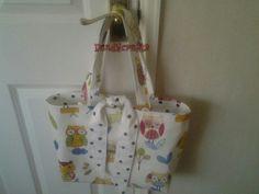 Tie top tote bag made by Dandycrafts