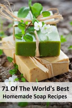 71 Of The World's Best Homemade Soap Recipes. Want to try making your own soaps? Here are 71 of the world's best recipes all in one convenient place! Share this with your soap making friends so they can check it out! Diy Savon, Homemade Soap Recipes, Soap Making Recipes, Homemade Soap Bars, Homemade Candles, Homemade Beauty Products, Beauty Recipe, Handmade Soaps, Diy Soaps