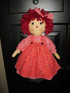 A new Raggedy Ann, I used a Sweet Meadows Farm for this doll