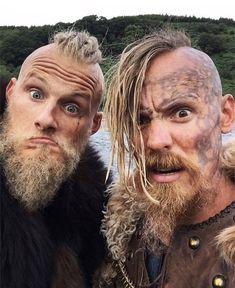 Bjorn (Alexander Ludwig) & Halfdan (Jasper Pääkkönen). Vikings