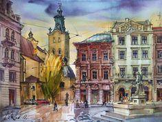 Lviv (Ukraine) / watercolor on paper / 40 x 30 cm, 2010
