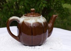 Vintage Teapot  3 1/2 cup dark chocolate by JaneEleanorsPicks, $23.00
