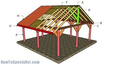 This step by step diy woodworking project is about diy pergola plans. If you want to learn more about building an exquisite pergola for your backyard, we recommend you to check out this step by step article. Pergola Cost, Pergola Canopy, Metal Pergola, Pergola With Roof, Wooden Pergola, Covered Pergola, Patio Roof, Pergola Plans, Pergola Ideas