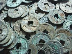 Ancient Chinese Coins Cash Coin Tang Dynasty History   Feng Shui poster idea