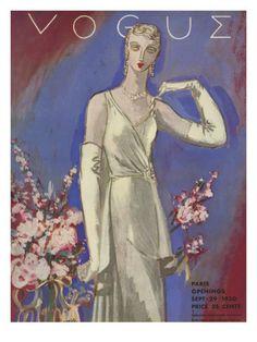 Vogue Cover - September 1930 By: Eduardo Garcia Benito