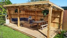 Gartenhaus Designs # Designs # garden shed design # garden ., Gartenhaus Designs # Designs shed design diy shed throw ideas While ancient inside notion, your pergola has become enduring a modern day rebirth most of these days. Patio Pergola, Backyard Pavilion, Backyard Patio Designs, Pergola Designs, Modern Pergola, Rustic Pergola, Shed Patio Ideas, Backyard Cabana, Gazebo Ideas