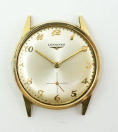 Vintage-14K-Gold-Longines-370-LXW-Man-039-s-Wristwatch-for-Restoration-Swiss