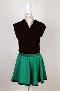 Model Patrícia en color verd.