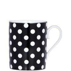 BLACK & WHITE mug dots small - Butlers