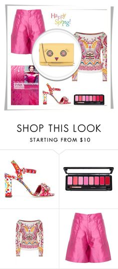 """Pink Yarrow"" by sparklemeetsclassic ❤ liked on Polyvore featuring Dolce&Gabbana, Temperley London, Miu Miu and Fendi"