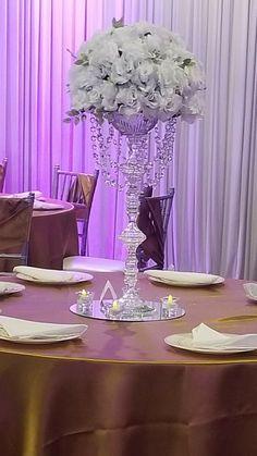 Rivera's Events & Creations – Wedding Centerpieces Dollar Tree Centerpieces, Tall Wedding Centerpieces, Wedding Table Decorations, Shower Centerpieces, Decoration Table, Floral Centerpieces, Floral Arrangements, Floral Wedding, Rustic Wedding