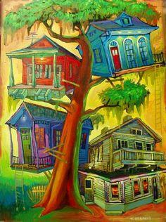 New Orleans Artist Terrance Osborne . 'anita's mandina's' . galleryosborne.com