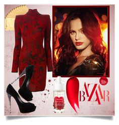 """""""Red Lace"""" by azure-rose ❤ liked on Polyvore featuring Clé de Peau Beauté, D24K Cosmetics, Korres, Balmain and Casadei Red Lace, Balmain, Bodycon Dress, Dresses With Sleeves, Cosmetics, Rose, Long Sleeve, Polyvore, Furniture"""