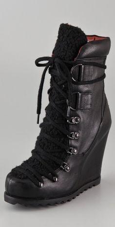 Luxury Rebel Shoes Trenton Wedge Booties - StyleSays