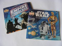 Star Wars Record Pair by ScribbleFitz on Etsy, $20.00