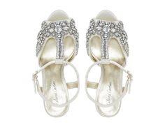 Roland Cartier Ladies MONTORI - Embellished Jewel Heeled Sandal - ivory   Dune Shoes Online