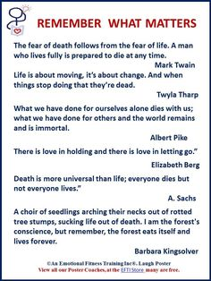 Nice nother free Remember What Matters poster coach. This one quotes about life versus death. #emotionali... Best Quotes Life Check more at http://bestquotes.name/pin/161388/