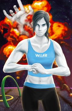 Wii Fit Trainer isn't Messing Around #SuperSmashBros