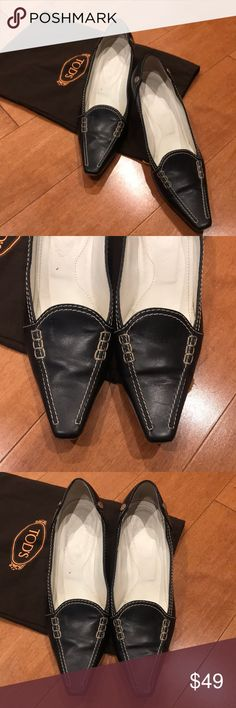 Tods shoes!! The heels are worn off but the rest is in good quality. Please see images for details! Tod's Shoes