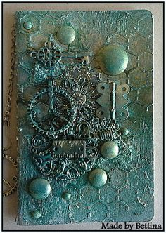 hinge etc Scrap-Unlimited: Workshop Mixed Media Mixed Media Cards, Mixed Media Collage, Mixed Media Journal, Altered Canvas, Altered Art, Altered Books, Altered Tins, Steampunk Cards, Mix Media