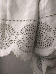 Add to bottom of any handkerchief weight linen tunic or skirt.