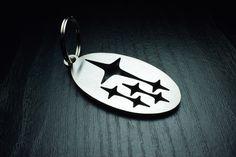 Subaru stainless steel keychain