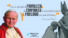 'Fue un ejemplo de fortaleza, de confianza en la providencia divina y de fidelidad a la sede de Pedro' - San Juan Pablo II.  https://twitter.com/alvaro14_org