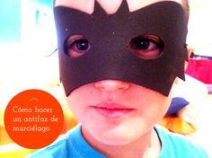 Halloween bat. Máscara de murciélago http://manualidades.euroresidentes.com/2013/10/como-hacer-un-mascara-de-murcielago.html